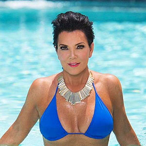 Kris Jenner boobs in bikini