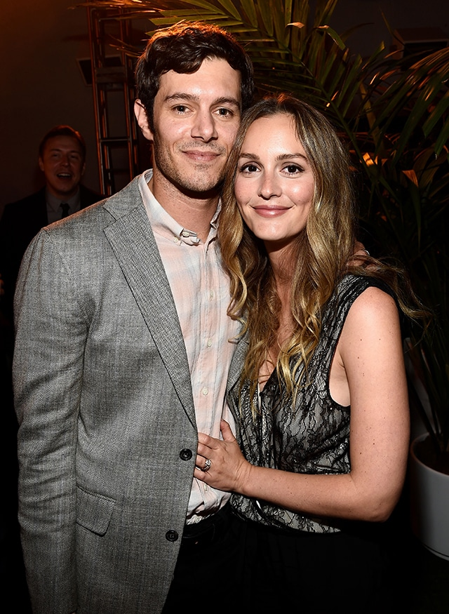Leighton Meester With Her Husban Adam Brody