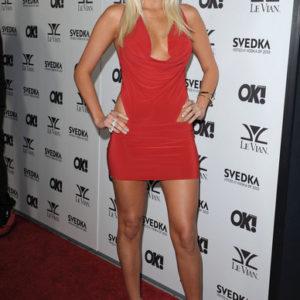 Karissa Shannon tight red dress photo