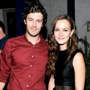 Adam Brody and Leighton Meester smiling