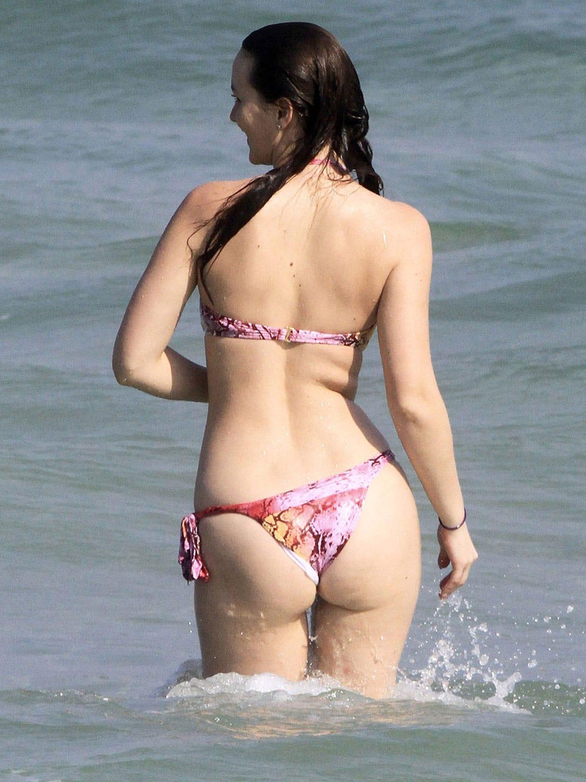 Leighton Meester at the Beach in Rio de Janeiro