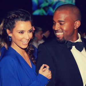 Kim K and Kanye West happy smiling
