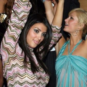 Kim K and Paris Hilton dancing