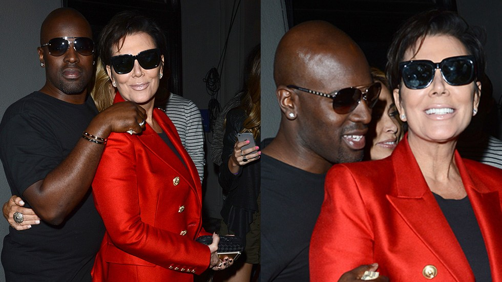 Corey Gamble kissing on his cougar Kris Jenner!