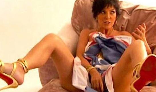 Kris Jenner legs spread nsfw