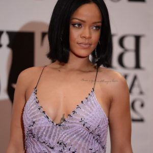 Rihanna deep cleavage